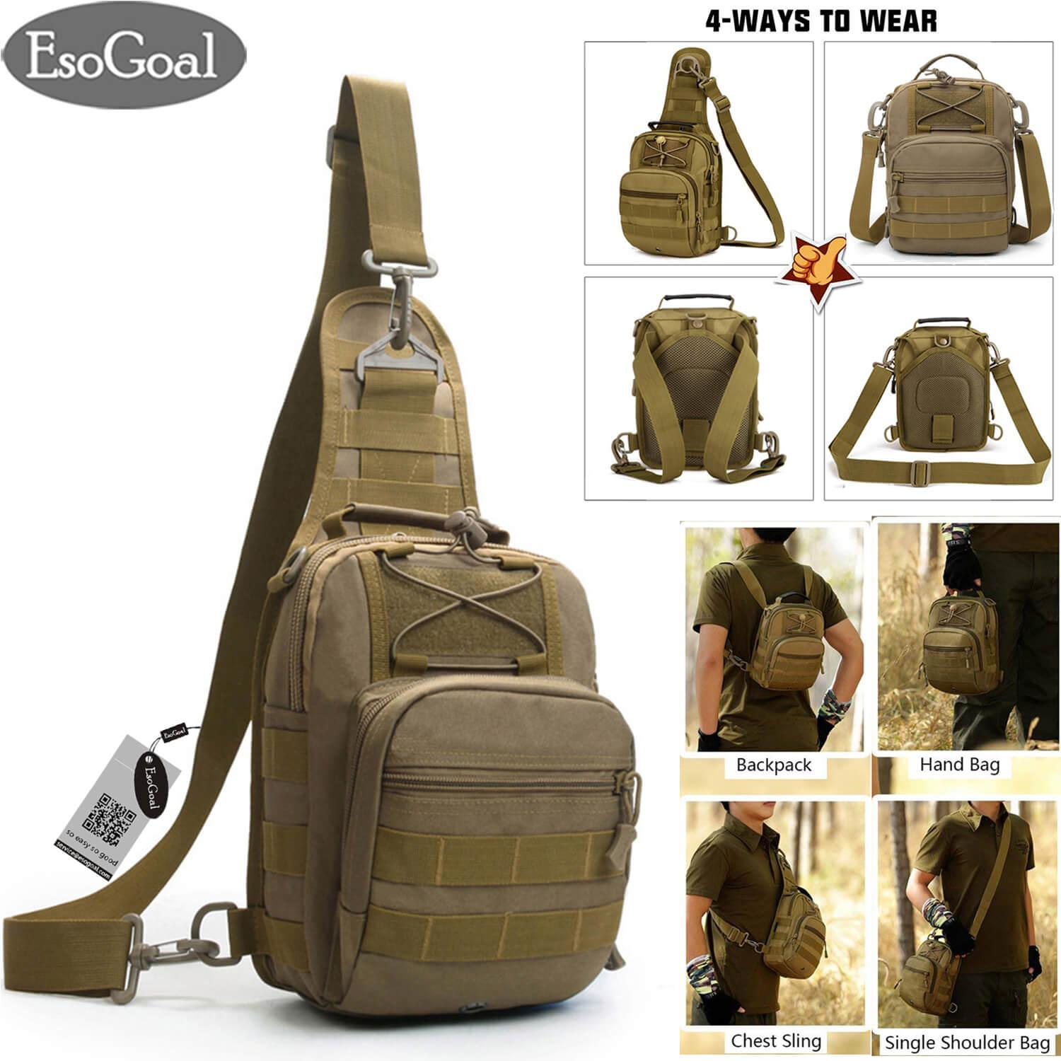 Sports & Entertainment Unisex Military Tactical Chest Pack Nylon Cross Body Sling Single Shoulder Bag Fishing Camping Equipment Selling Well All Over The World