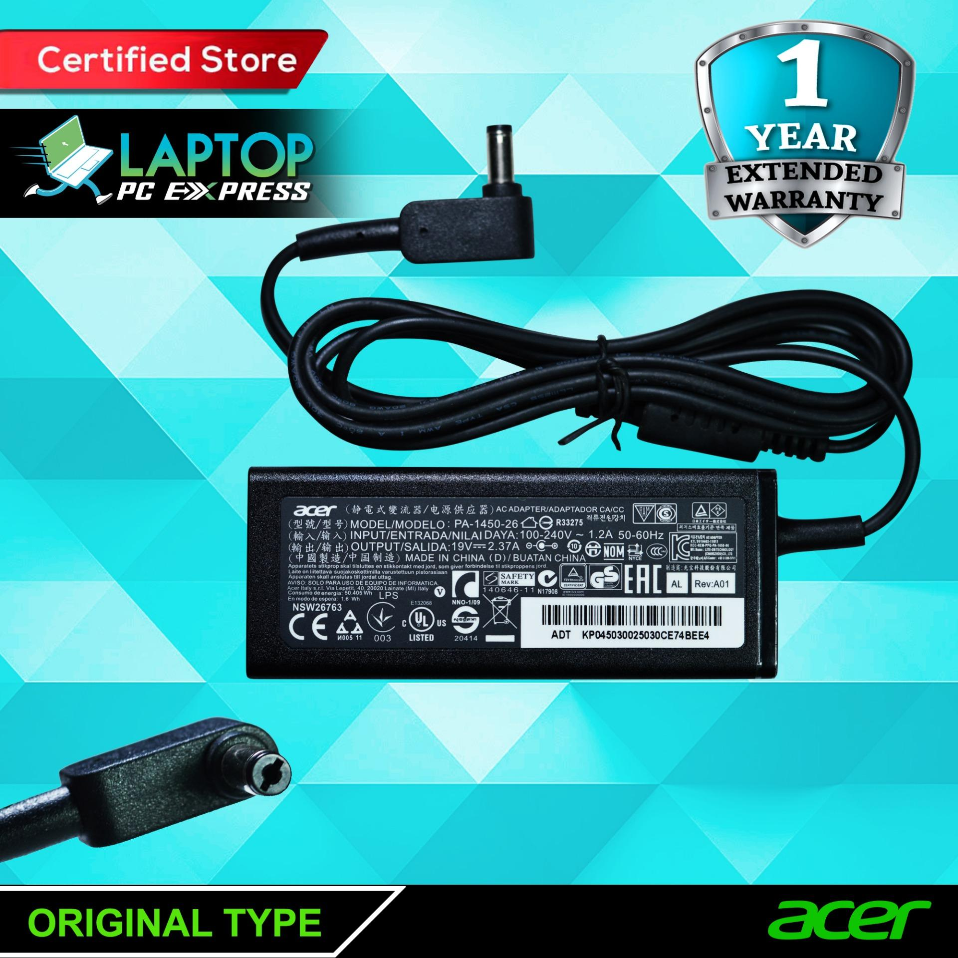 Acer Computer Accessories Philippines Pc For Sale Original Baterai V5 471g 431g 531 Al12a32 Ms2360 E1 432 Laptop Notebook Charger 19v 237a 45w 55mm X 17mm