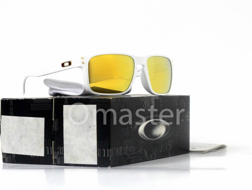 8d7b48ebf908 New Original Oakley Holbrook Polished White w/ 24k Iridium Lens Asia Fit