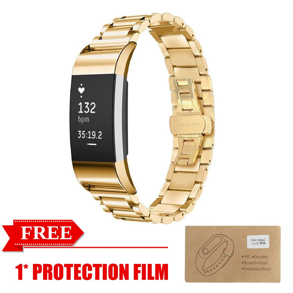 PHP 628. Stainless Steel Bracelet Metal Watch Wrist Band Strap For Fitbit Charge 2 Watch with free ...
