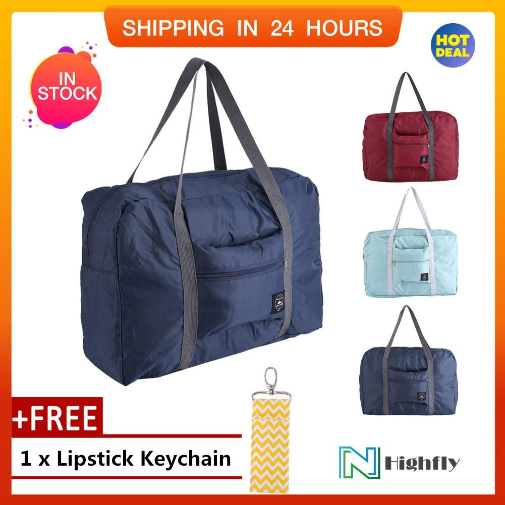 0a901d61e1c  Free Gift Big Size Foldable Carry-On Duffle Bag Travel Luggage Carry  Storage