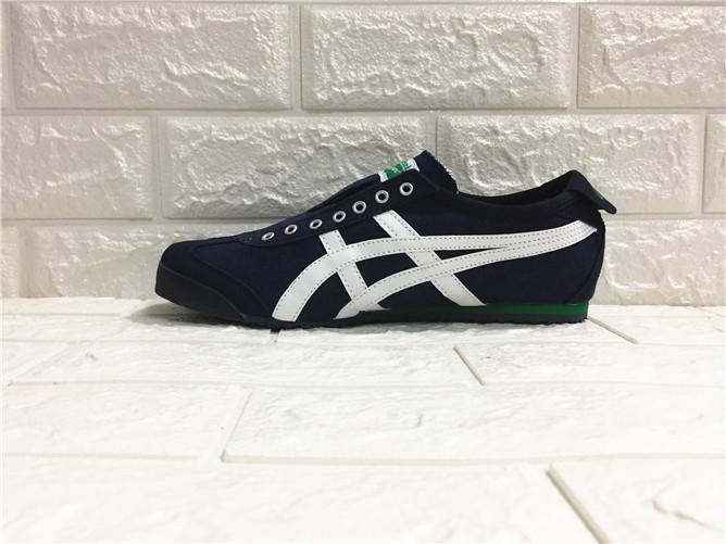 """857cabb13405 Asics Official """"ONITSUKA TIGER"""" MEN WOMEN Running Shoe Dark blue White  Sneakers MEXICO 66 Canvas Lazy"""