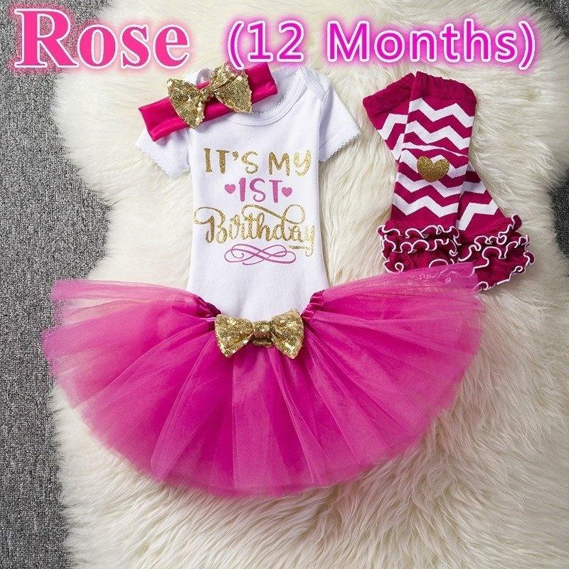 5ade7177079ef Lovely Birthday Letter Print Outfits Sets for Baby Girl 4 Pcs Set  Romper+Headband+Skirt+Leggings 4 Colors Tulle Mini Sequined Bow Dresses -  intl