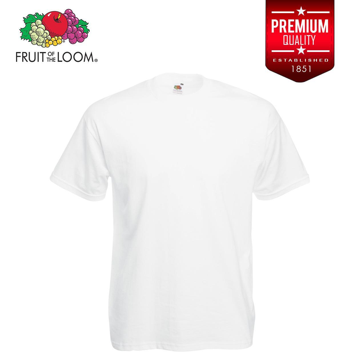 ea788c6a Fruit of the Loom Soft Premium T Shirt tshirt plain tee tees Mens t shirt  shirts