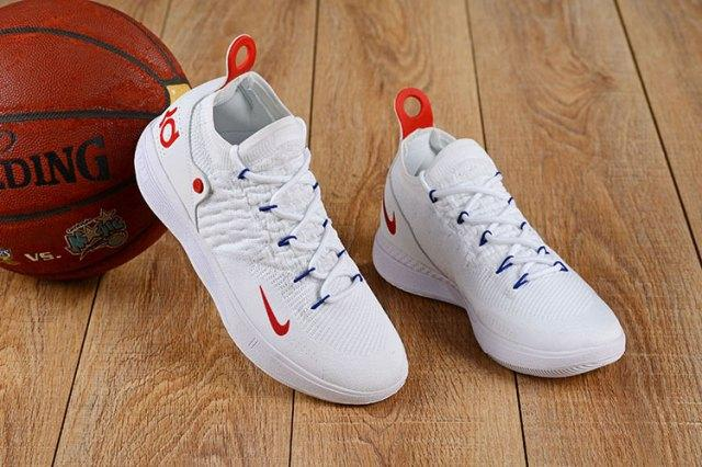 best service 734be 123f9 Wholesale Nike Zoom KD 11 EP White Red Kevin Durant Men s Basketball Shoes  NBA Sports Shoes