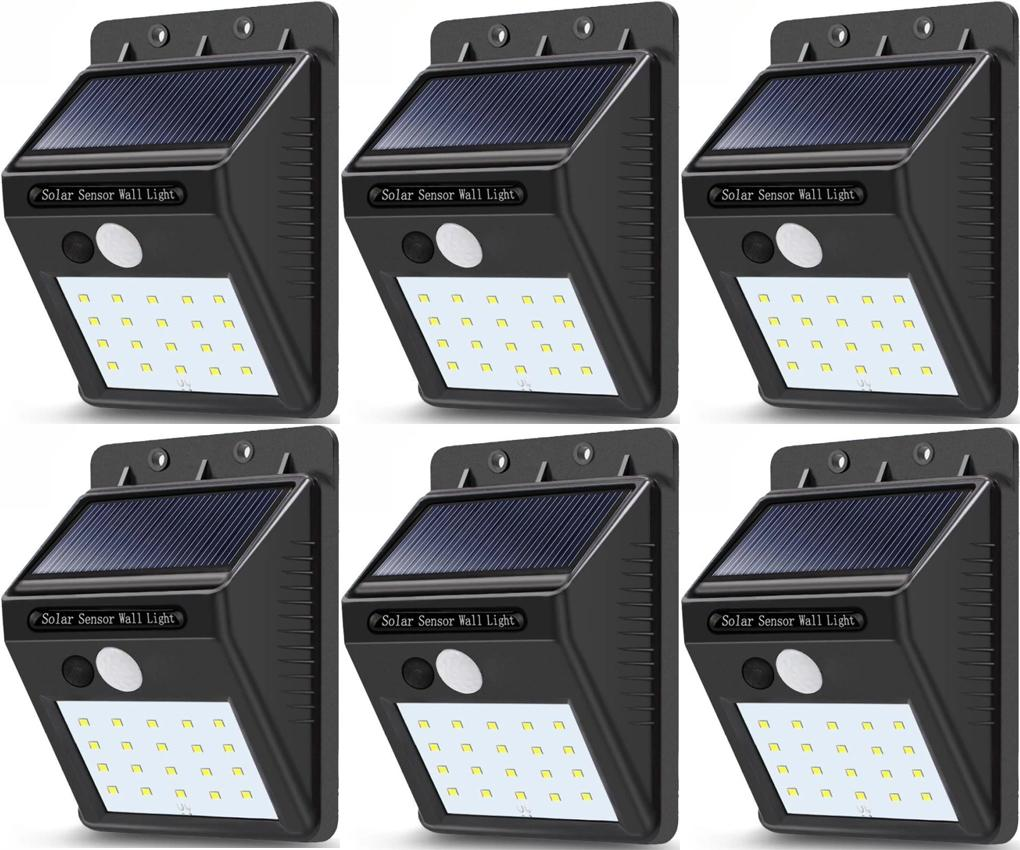 Outdoor Lighting For Sale Lights Prices Brands Review Light Unit And Method On Wiring A Switch To An Outside Set Of 6 Sensor Wall 20 Led Waterproof Rechargeable Solar Power Pir Motion Garden