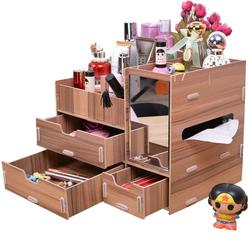 Phoebes Wooden Diy Make Up organizer Box (Wood) Philippines
