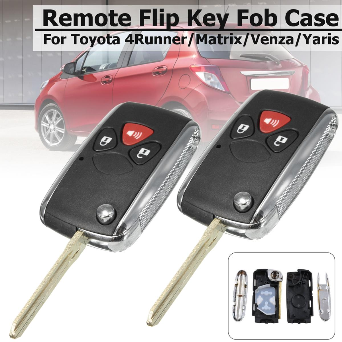 Keyless Entry For Sale Car Online Brands Prices Toyota Key Fob Diagram 2x New Remote Shell Flip Case Uncut Blade 3 Buttons Intl