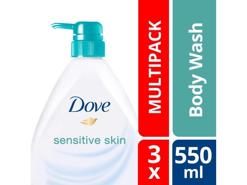 Dove Body Wash Sensitive 3X 550ml