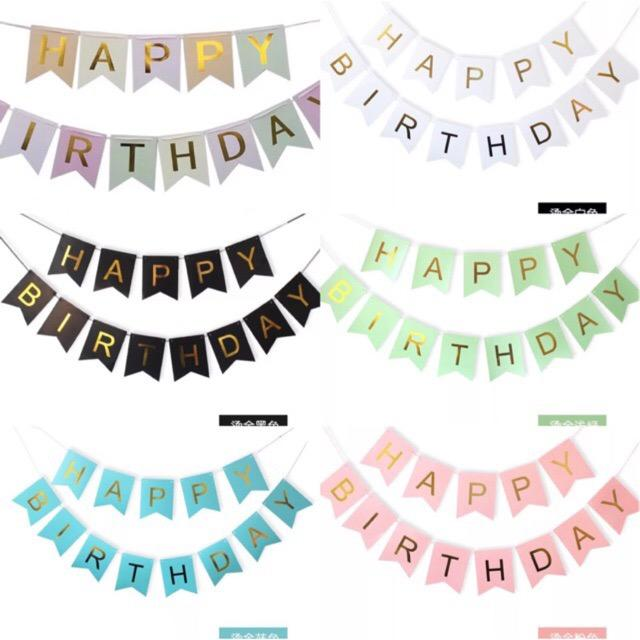 Happy Birthday Letter Banner Big Size 16*20cm By Ahpartyneeds.