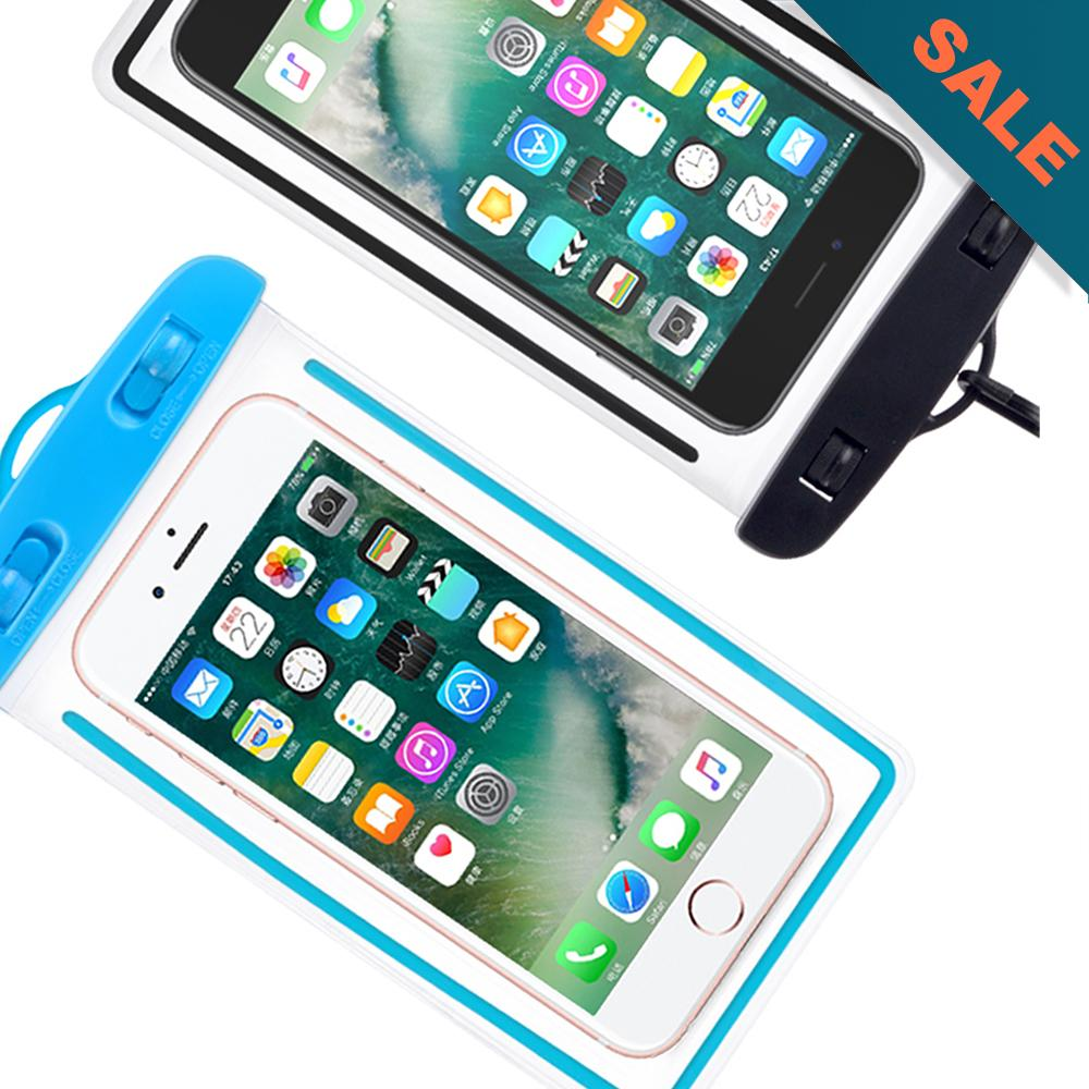 5cbc4e5511 Waterproof Underwater Case Dry Pouch for Mobile Android Smartphone and  iPhone 6 Plus, Samsung Phone