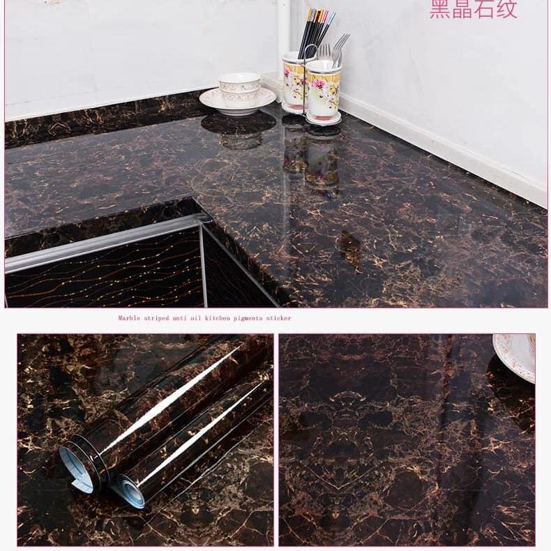 f15134f7 Kitchen Wallpaper selfadhesive waterproof fireproof oilproof pvctexture  5meters by 45cm