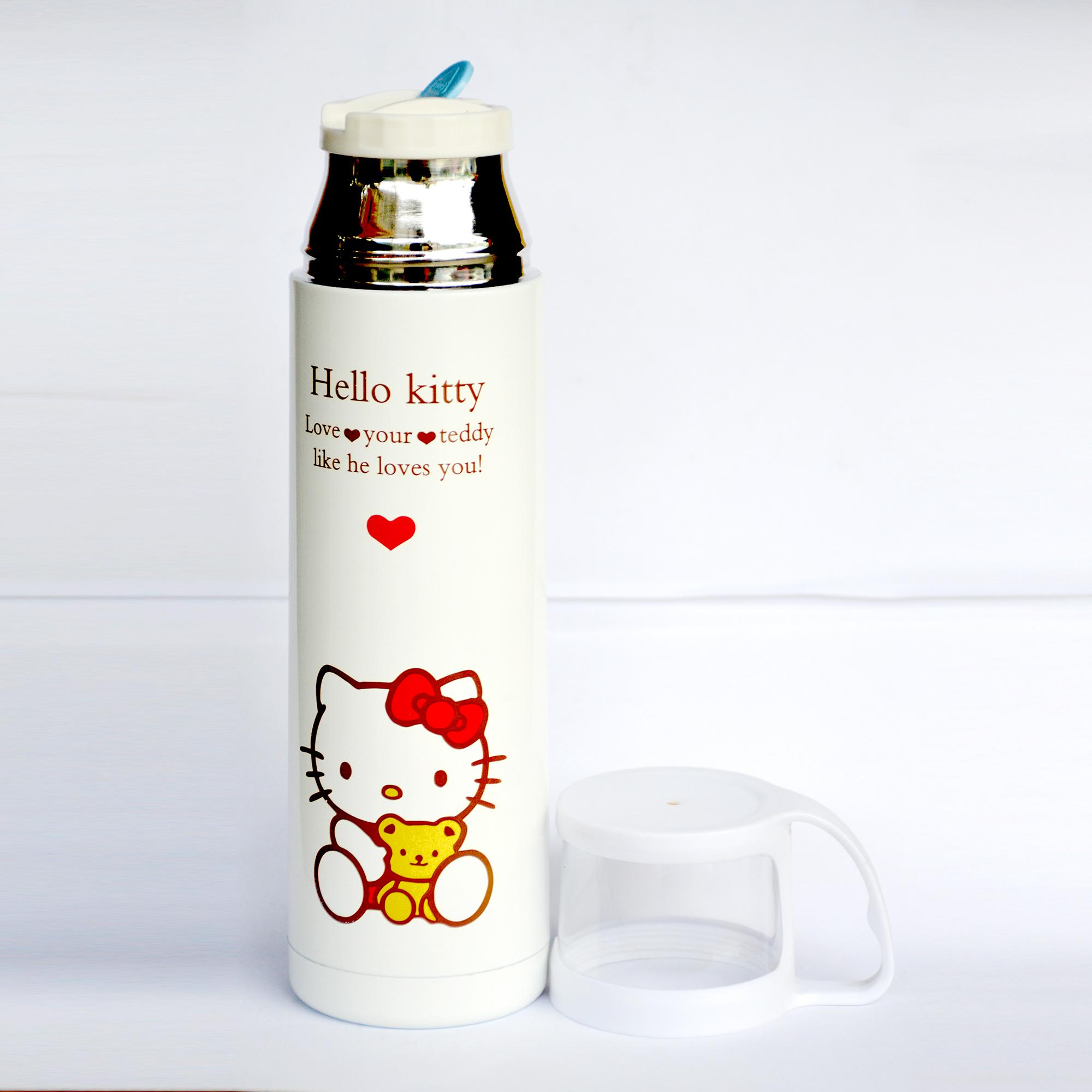 Buy Sell Cheapest Kitty Tumbler With Best Quality Product Deals Thermos Mini Carakter 500 Ml Character Design Stainless Steel Vacuum Flask 500ml White