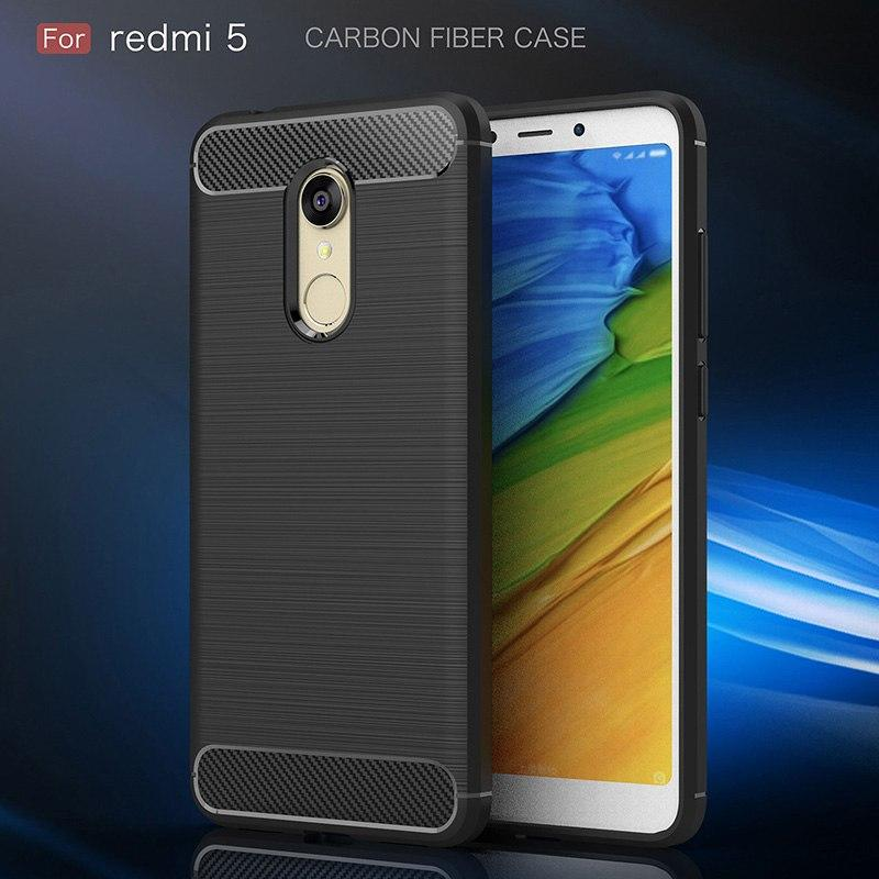 Xiaomi Redmi 5 Carbon Fiber Brushed Soft TPU Case