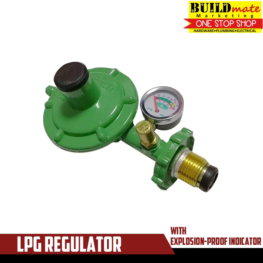 Lpg Regulator With Lock & Gauge Ba1007 By Buildmate.