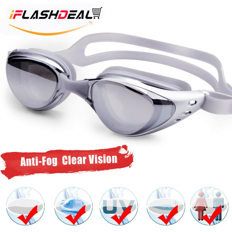 8d99466dbaa iFlashDeal Swimming Goggles Swim Goggles UV 400 Protection Anti Fog No  Leaking Wide View Pool Goggles