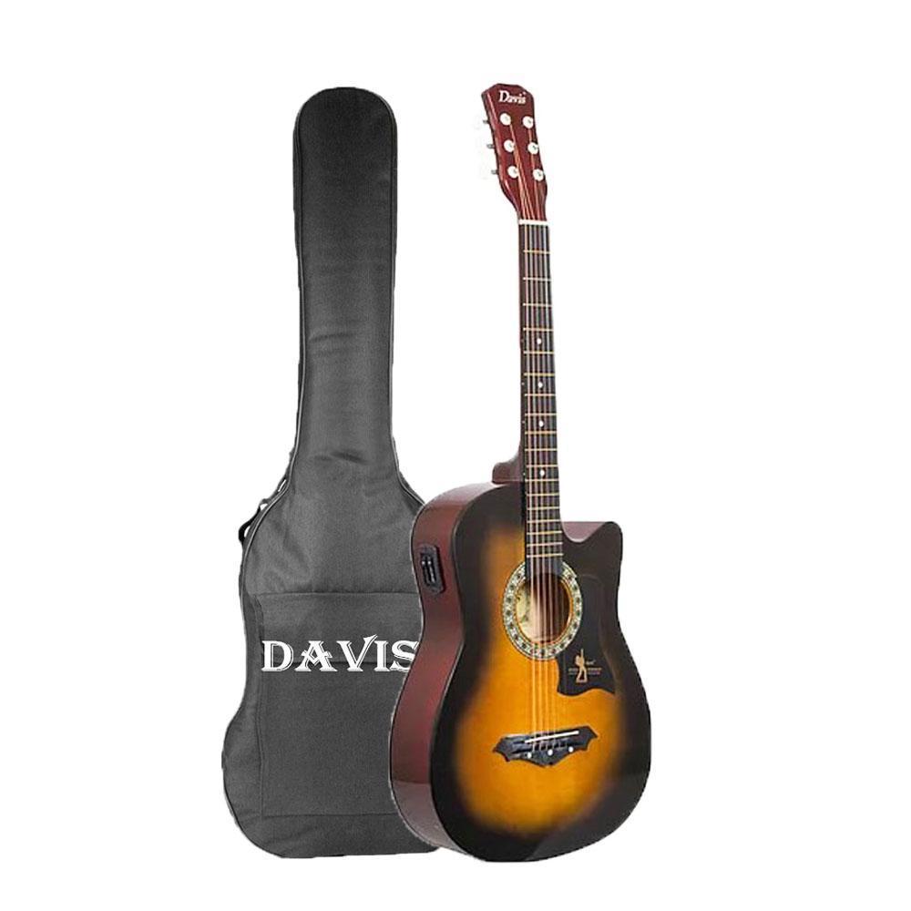 b3fd7317ce7 Davis JG-38 Acoustic Guitar EQ2 with Free Guitar Bag (Multicolors)