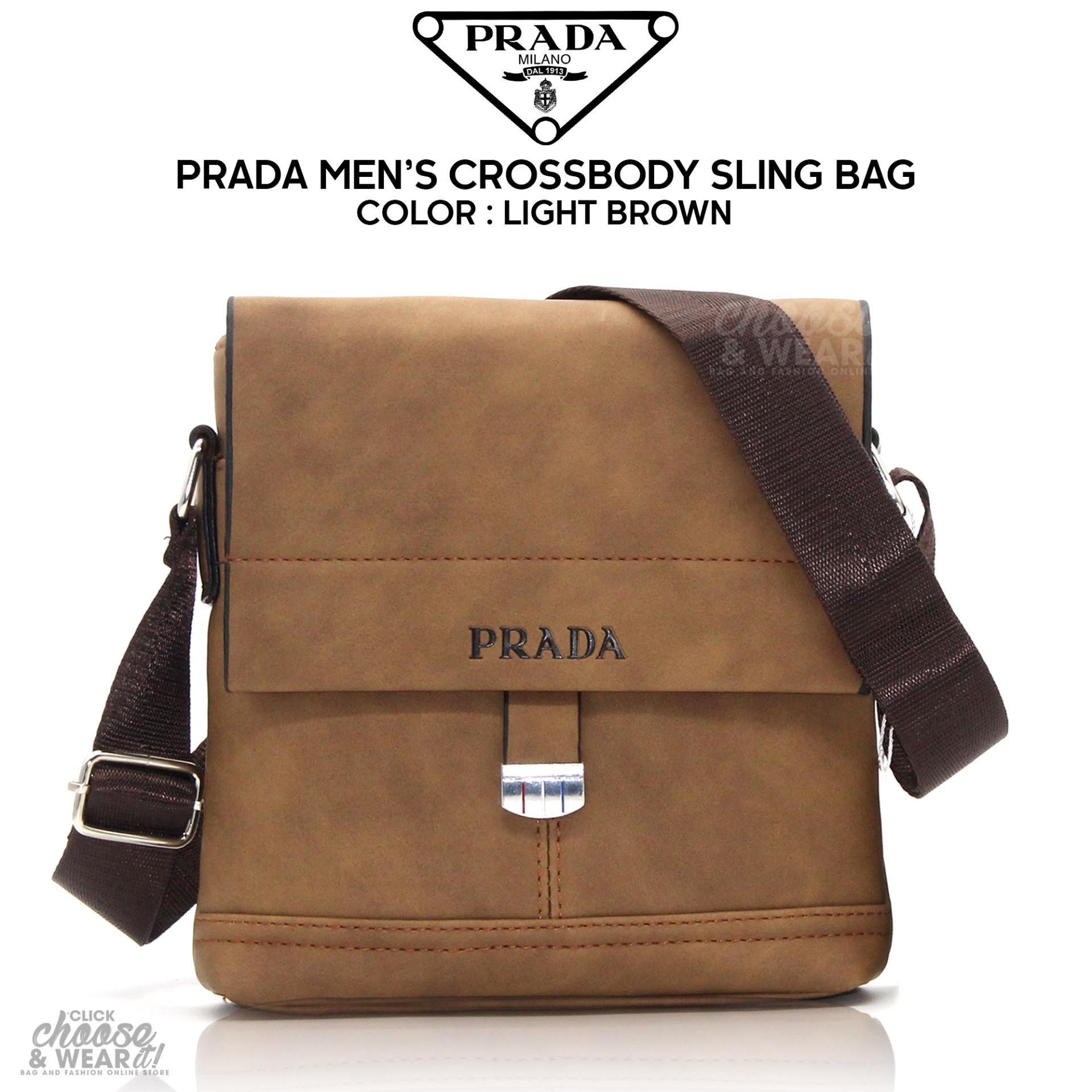 e019b5408223 ... hot prada crossbody messenger bag magnetic closure adjustable strap  light brown 892f6 a0be7