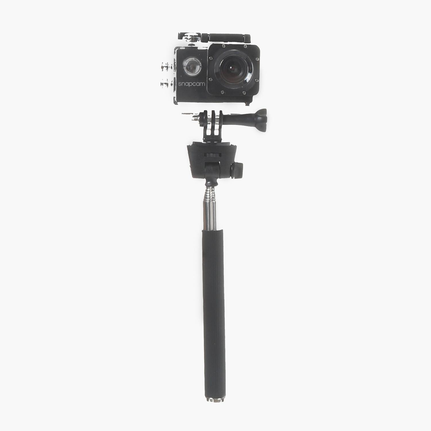 Snap Cam Camera With Waterproof Case And Monopod (black) By The Sm Store.