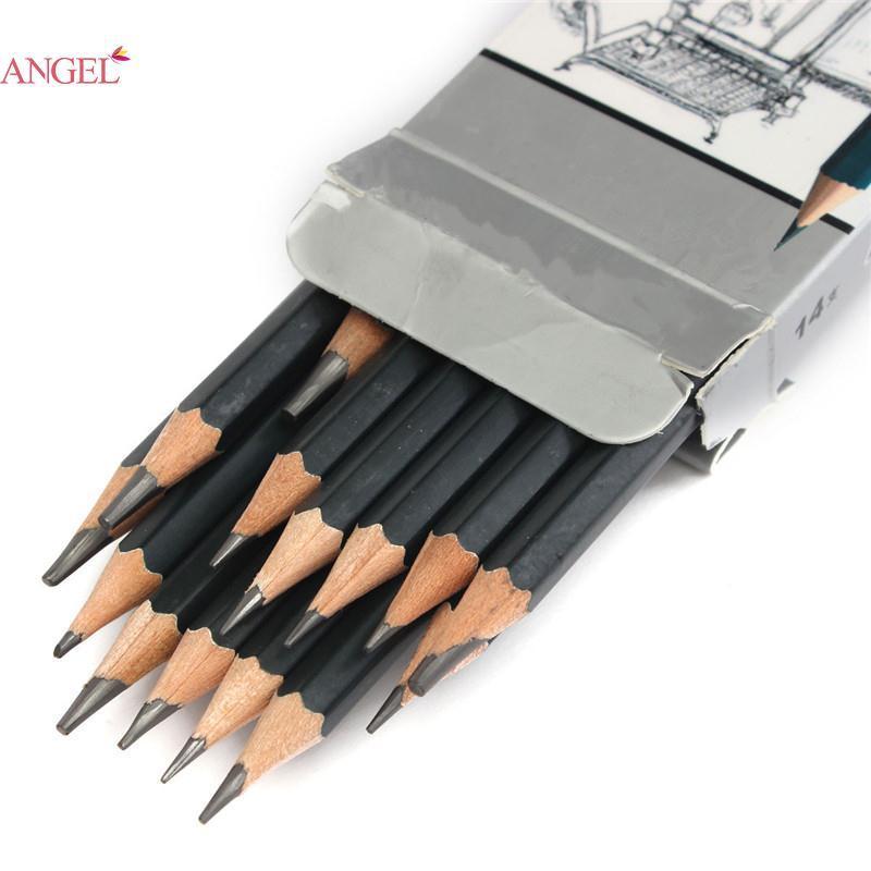 Pro 14pcs Sketch Pencils Charcoal Pencil Extender Drawing Set Art Supply Tool