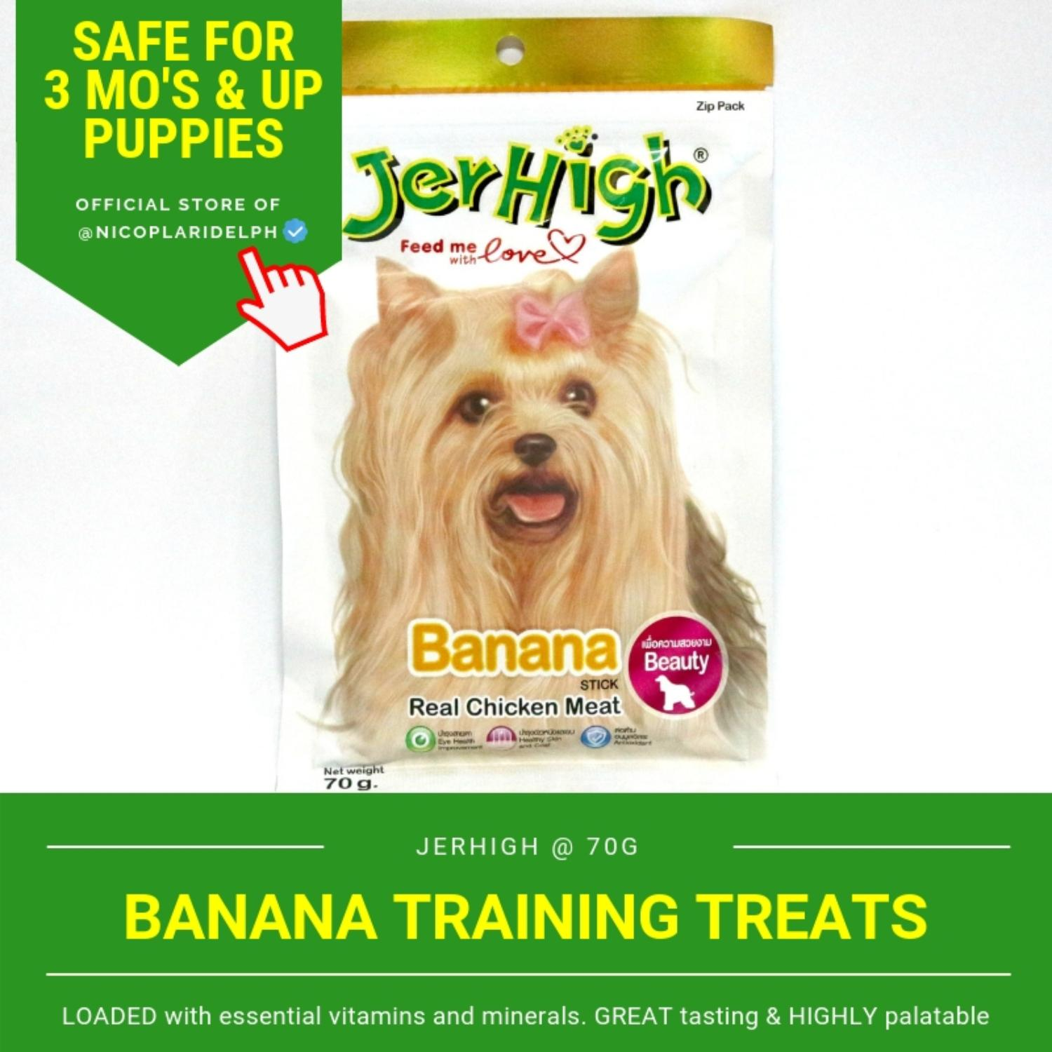 Jerhigh Banana Stick With Real Chicken Meat For Puppies And Adult Dogs (70g) By Nicoplaridelph.