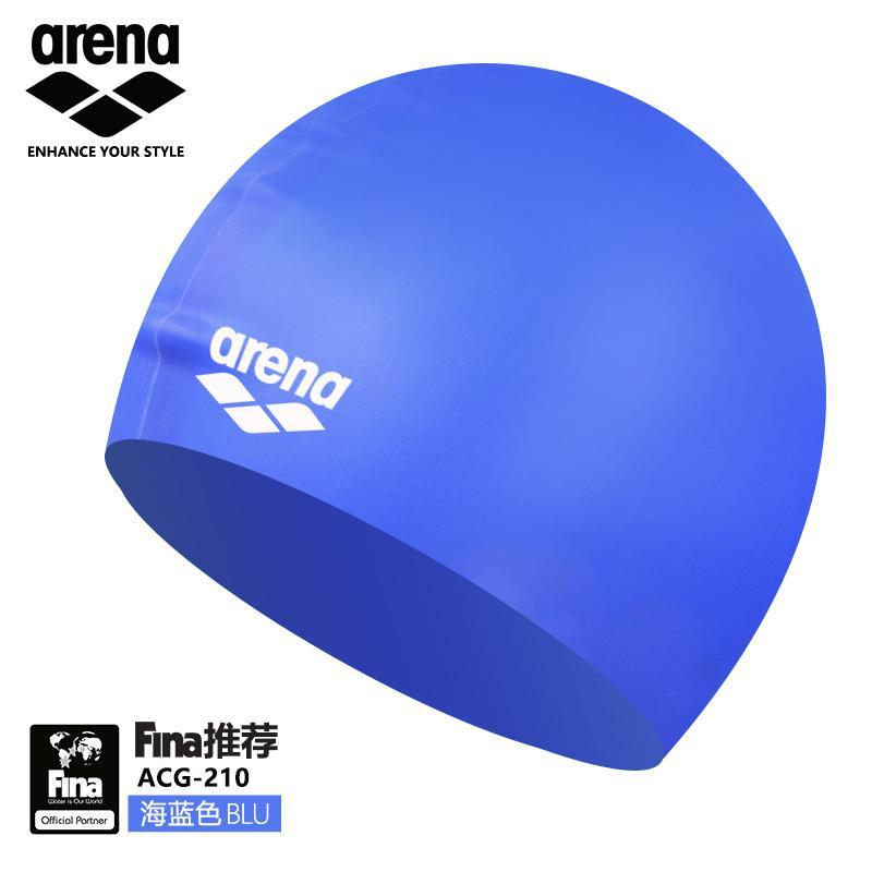 Nuoto blu centrale latex Swim Cap