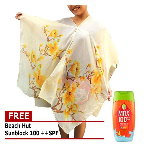 ... Pearl Button Floral Print Sunscreen Scarf Orange intl. Bathing Suits for sale Womens Beach Wear online brands prices Source · Floral Beach Scarf Cover ...