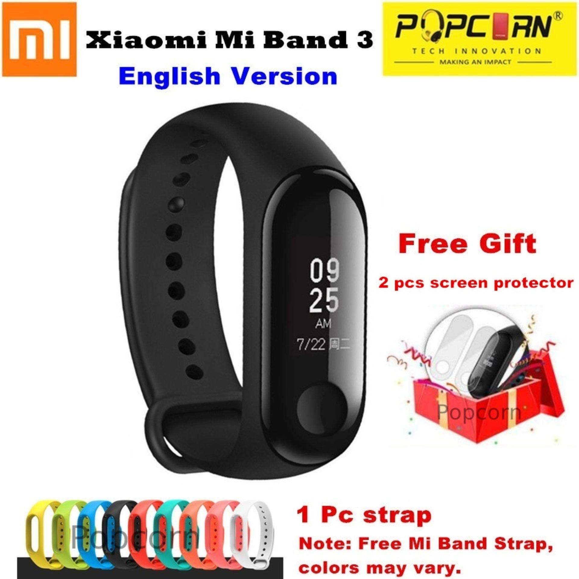 Fitness Tracker For Sale Band Prices Brands Specs In Xiaomi Mi 2 Oled Strap Stainless Steel Mijobs Silver Plis Original 3 English Version Screen Smart Bracelet Wristband Heart Rate Monitor