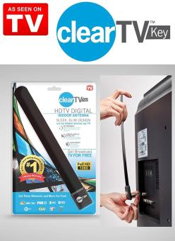 Clear TV Key HDTV FREE TV Digital Indoor Antenna 1080p Ditch Cable As Seen on TV (Color: Black) - intl