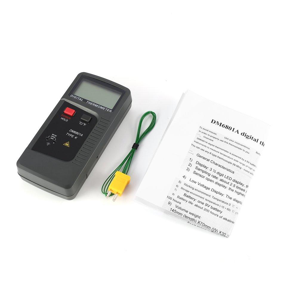 OH DM6801A K Type Digital Thermocouple Thermometer Temperature Tester -40~250℃