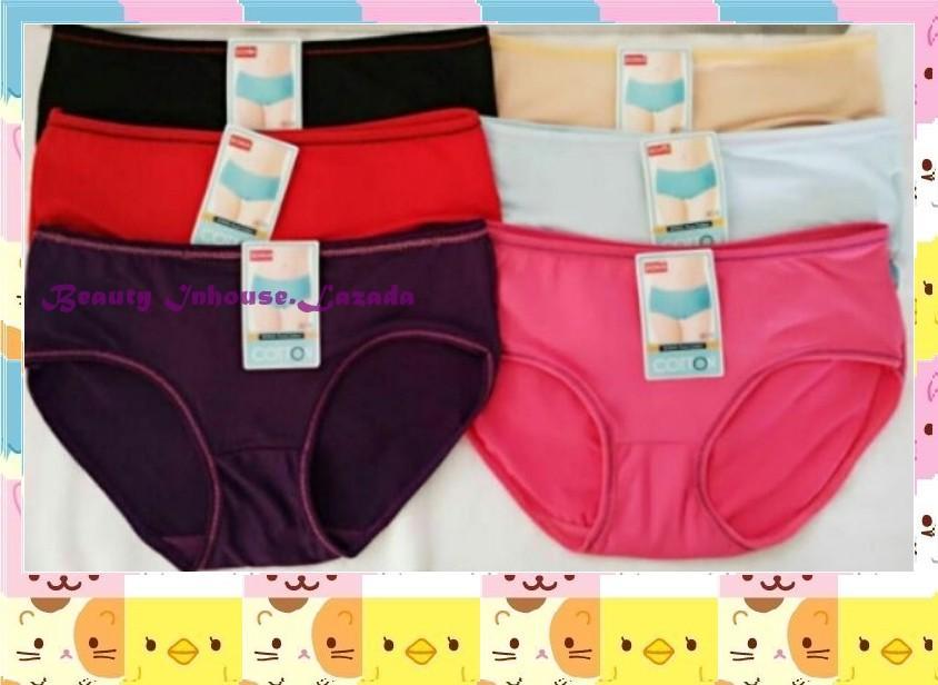cec5f40441b Women s Cotton Underwear Candy Colors Mid Waist Briefs Panties-Random  Color