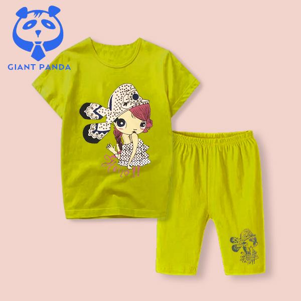 #GIANT PANDA# Set Terno for Girls Kids Children Fashion On Sale Tops and Shorts