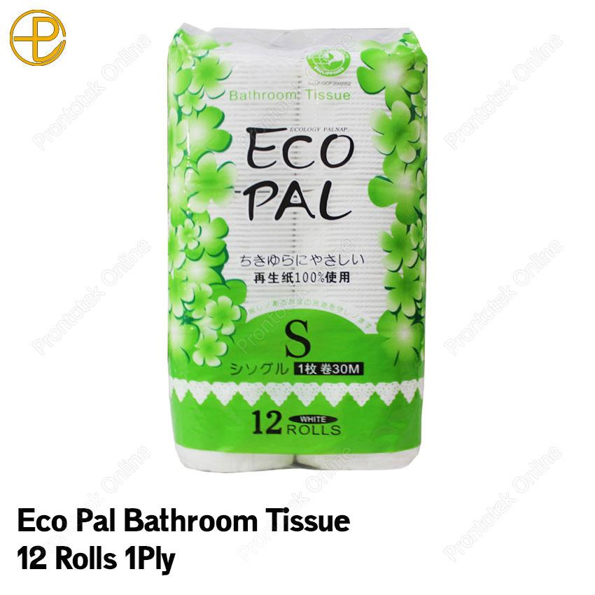Eco Pal Tissue 1ply 12 Rolls (white) By Prontotek Online.