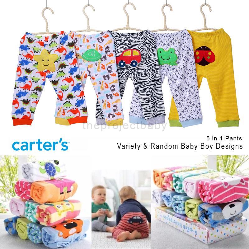 a47bbeb8094f5 5 pcs set Carter's bluefly baby BOY pants bottom 100% cotton infant newborn  pajamas carters