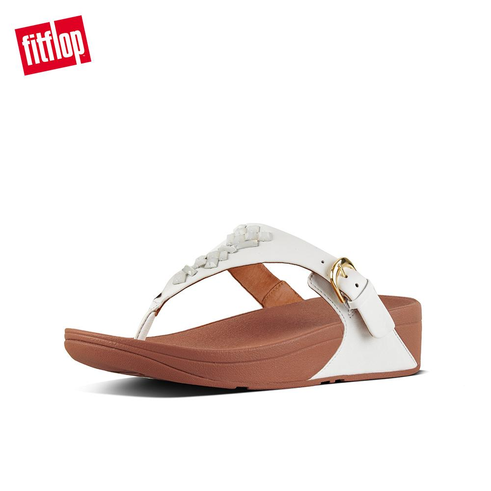 9e326e58c3e5 FitFlop Women s Sandals K22 THE SKINNY TOE-THONG SANDALS - CRYSTAL Leather  DRESS lightweight comfort