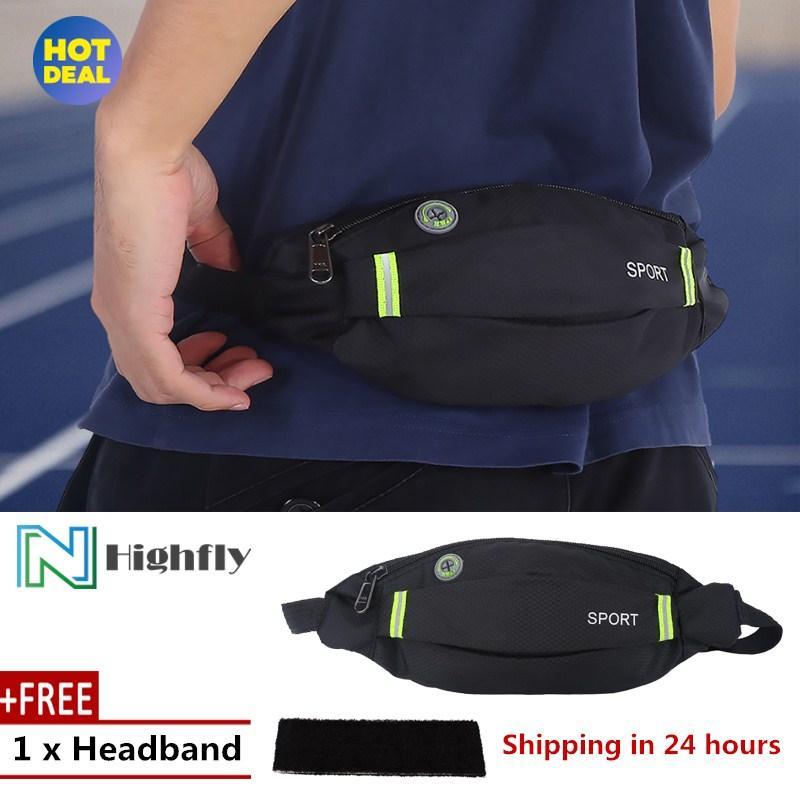 [Free Gift] Men Women Outdoor Sport Running Cycling Gym Waist Belt Bag Nylon Pack