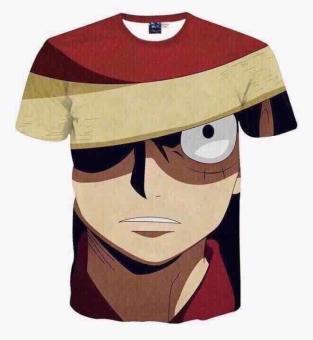 Japanese Anime Print 3d t-shirt men cartoon fashion ONE PIECE Monkey D. Luffy harajuku 3d t shirt summer tops tees - intl