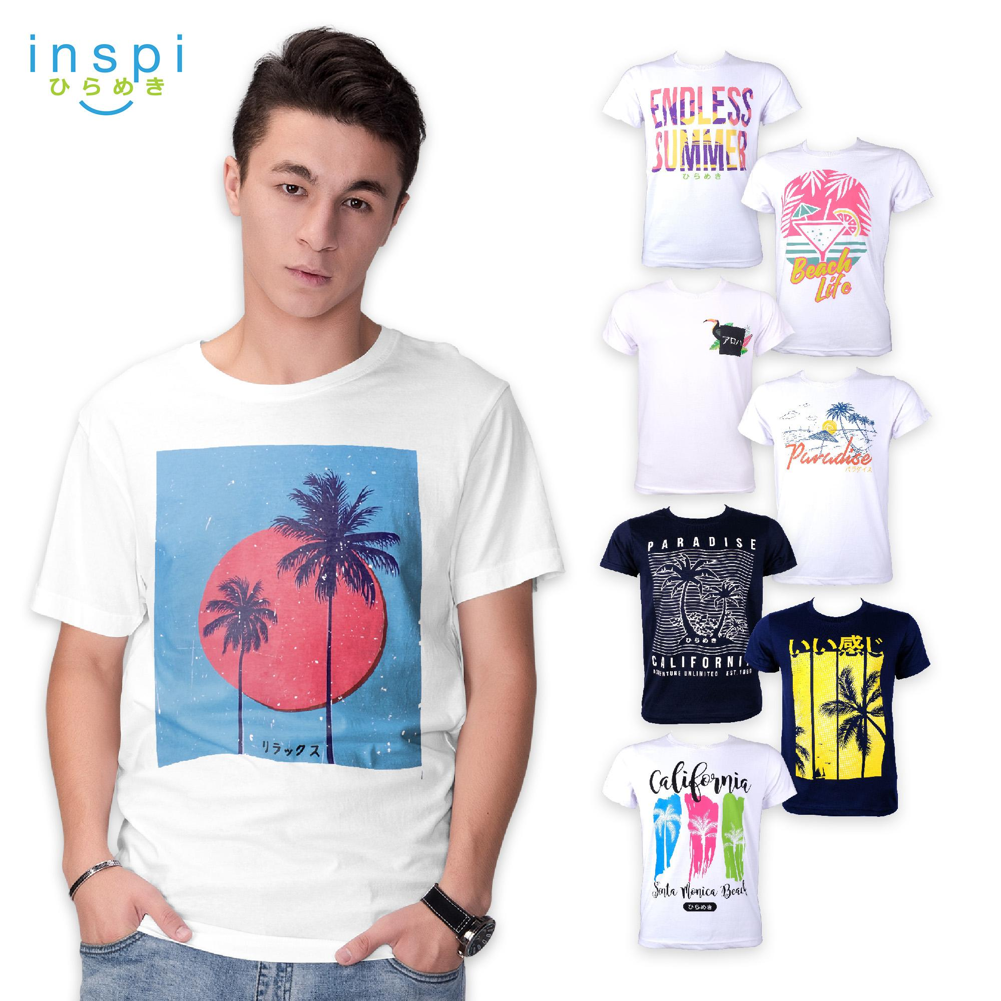 f1d5b7be0 INSPI Tees Summer Collection tshirt printed graphic tee Mens t shirt shirts  for men tshirts sale
