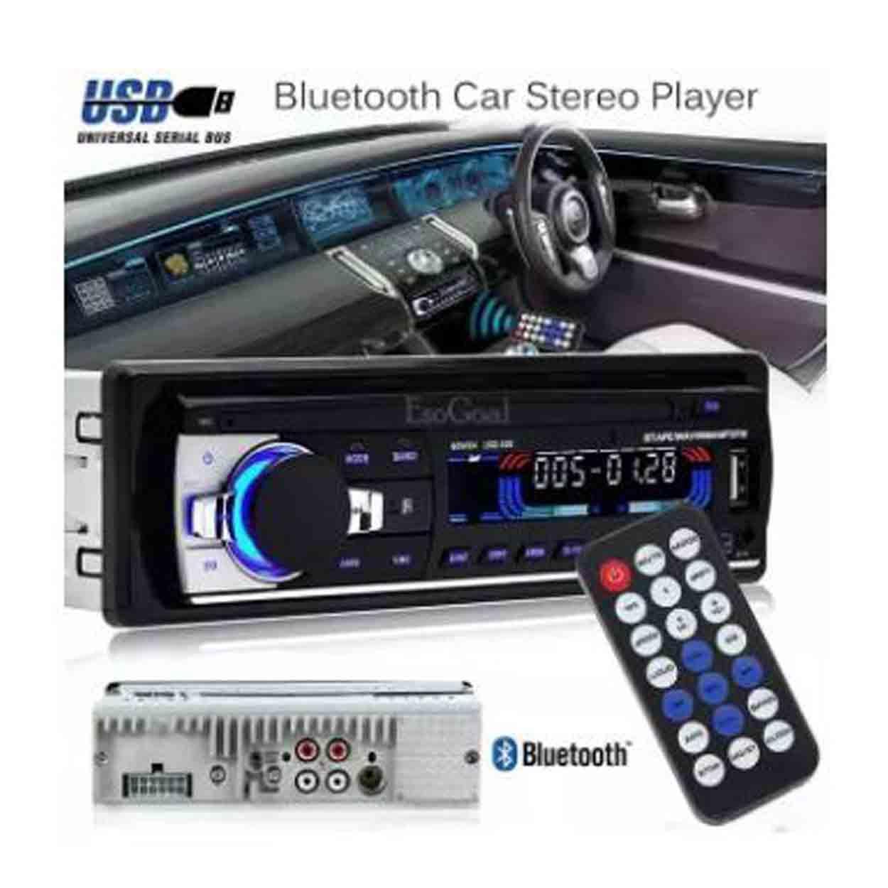 Car Stereo Bluetooth Wireless Digital Media Single-Din in Dash Receivers USB /SD/