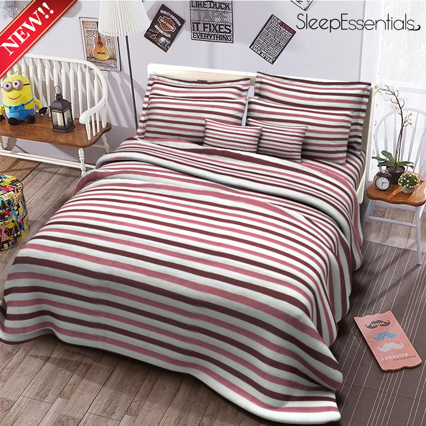 Sleep Essentials 3in1 Bedding Set Printed Bedsheet ( 2 Pillowcases 1 Fitted  Sheet )  Fyonae