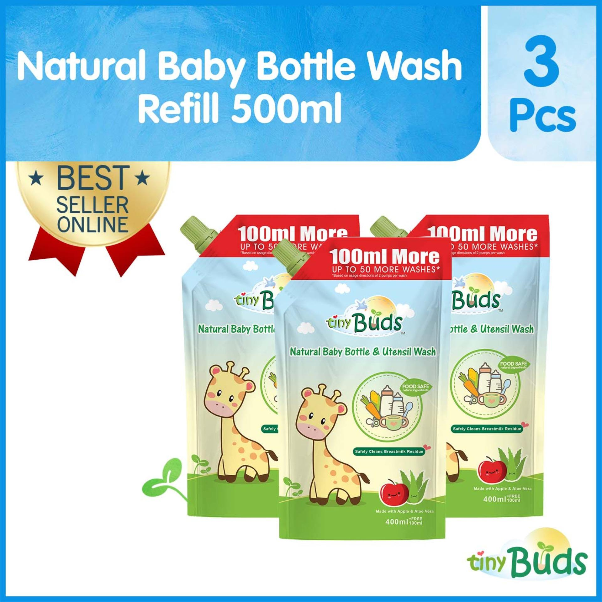 Tiny Buds Natural Baby Bottle Nipple And Utensil Wash 500ml Set Of 3 By Tiny Buds Baby Naturals.