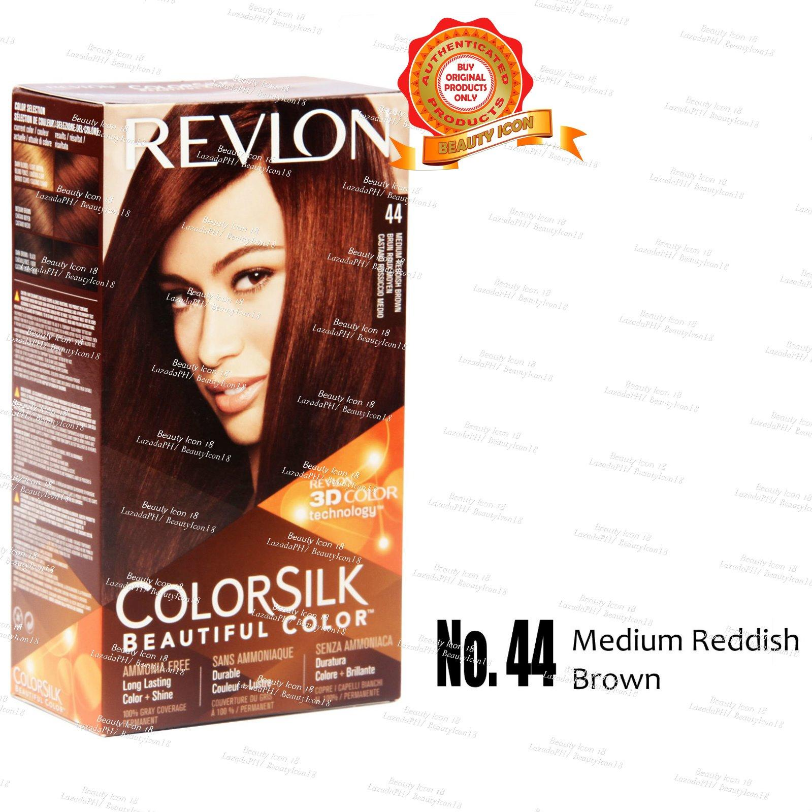 Revlon Color Silk Beautiful Ammonia Free No 44 Medium Reddish Brown