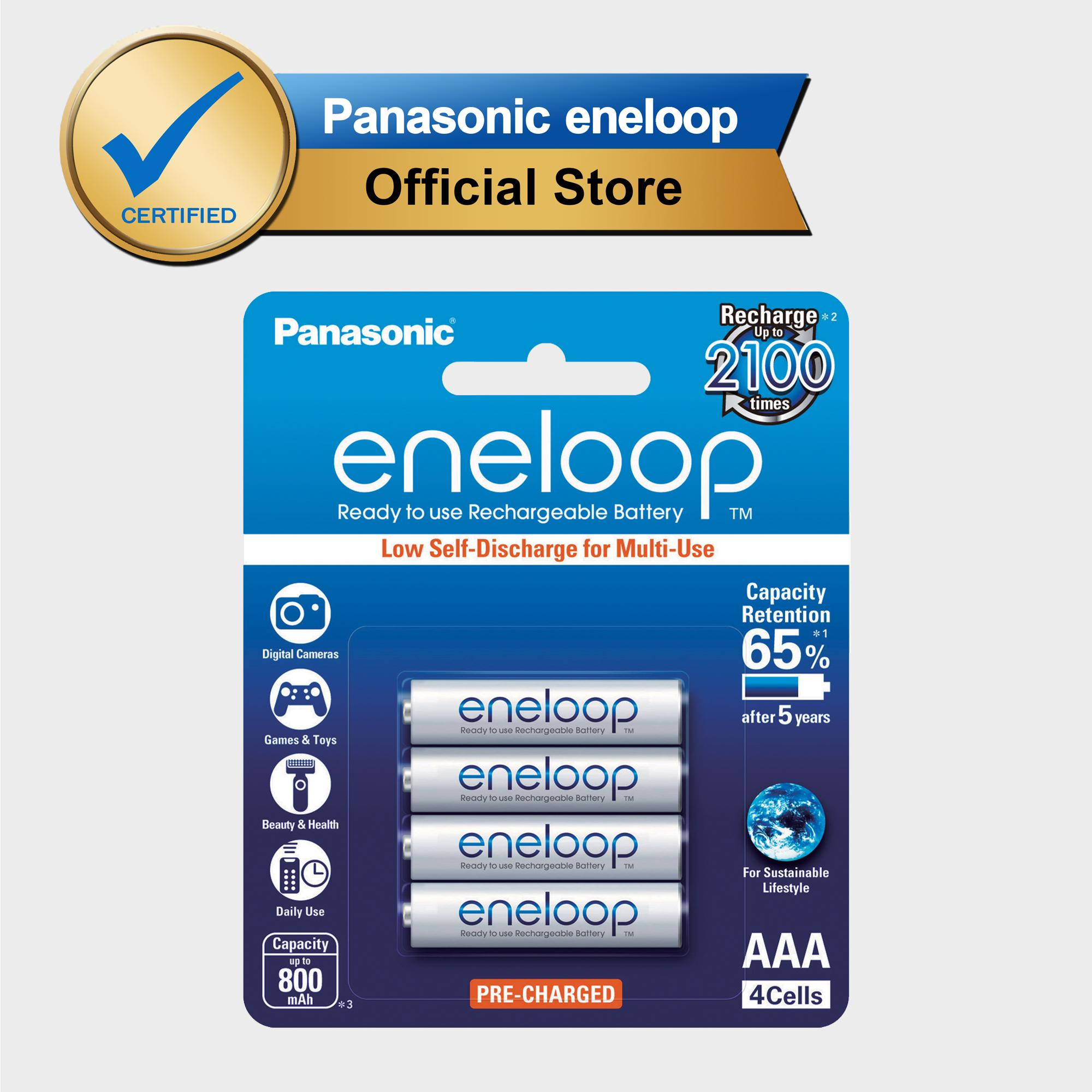 Panasonic Eneloop Bk-4mcce-4bt Aaa Rechargeable Battery Pack Of 4 (white) By Panasonic Eneloop.