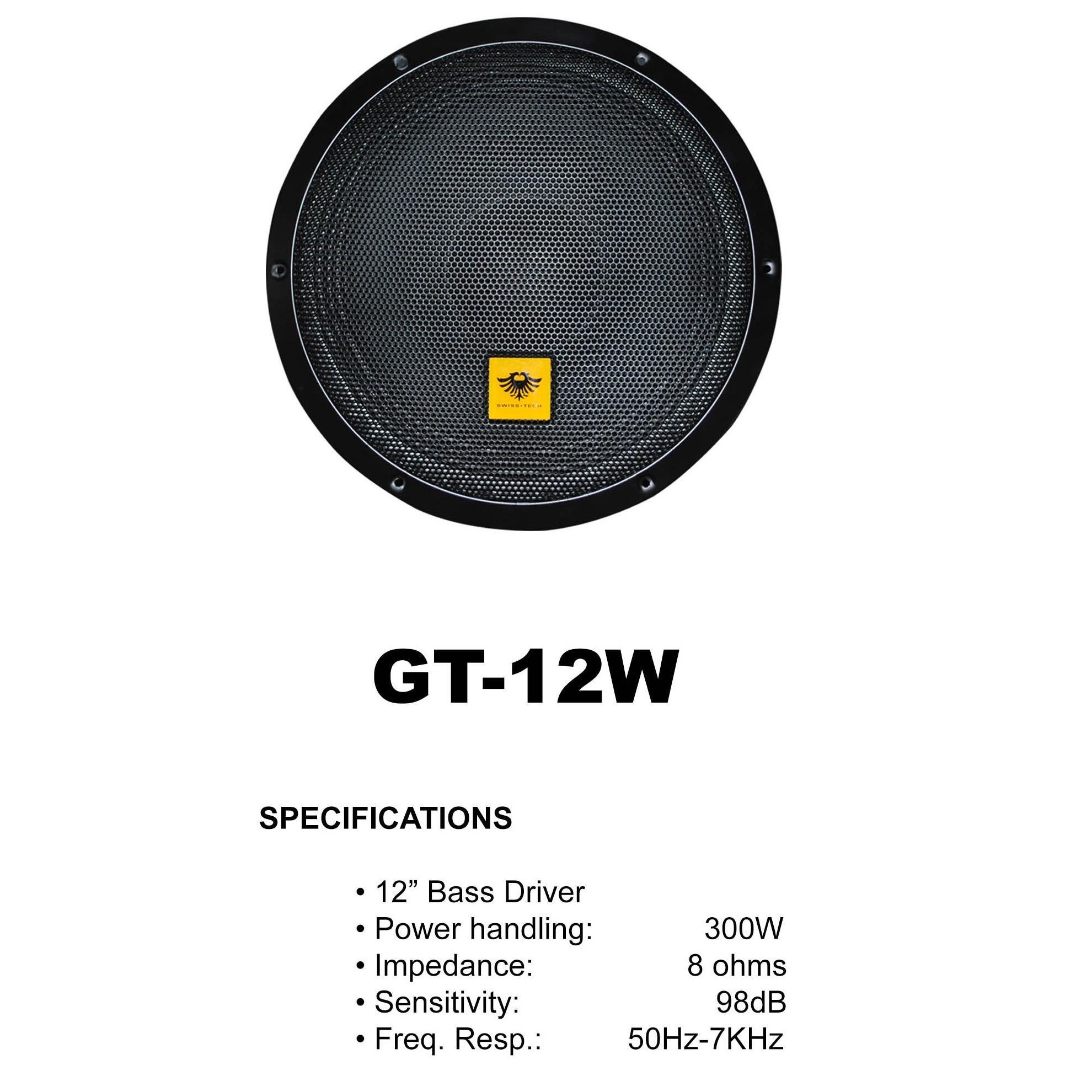 Subwoofer For Sale Speaker Prices Brands Specs In Ev Eliminator Wiring Diagram Kevler Gt 12w 12 300w 8ohms Bass Driver