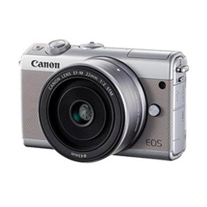 Canon M100 Ef 15-45mm Lens Mirrorless Camera 24.2mp Digic7 3.0 Display Built-In Wifi Full Hd Video Recording Touch Screen By Tca Digital Square.