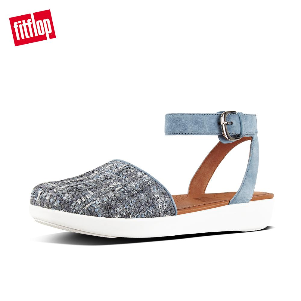 bd366fb46a3458 FitFlop Women s Shoes J91 Cova Closed-Toe Sandals - Luxe-Tweed Ergonomic Comfortable  Fashion