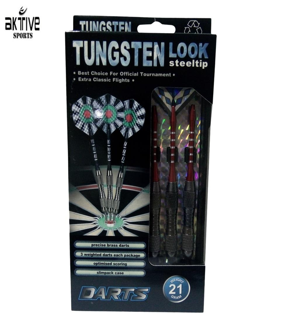Tungsten Look Steeltip Darts 21g - Assorted Colors And Designs By Aktive Sports.