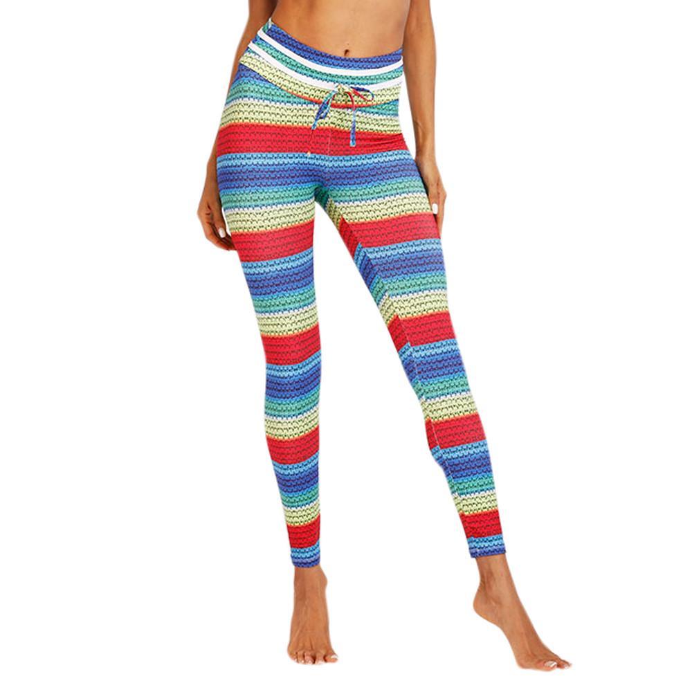 Women Leggings Push Up Printing Casual Pants Fitness Fashion Yoga Legging XL