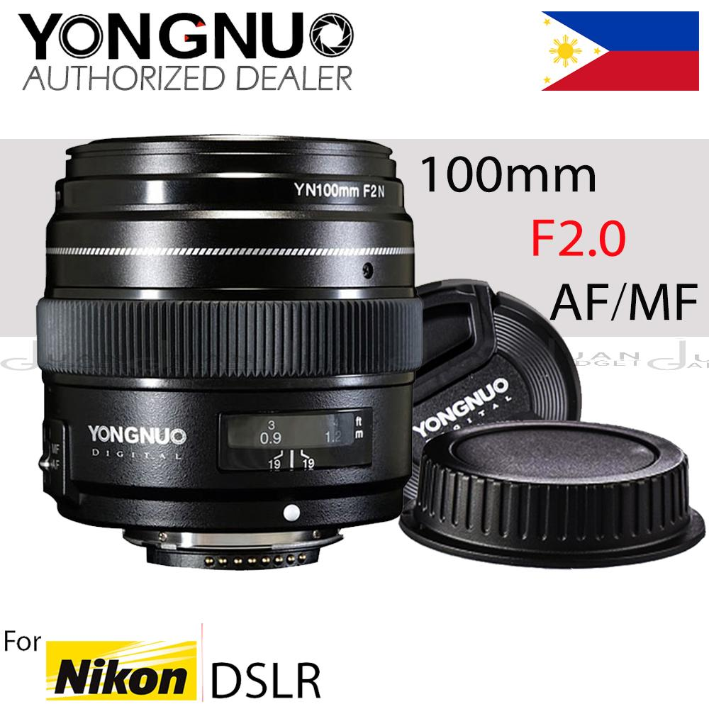 Yongnuo Philippines Lenses For Sale Prices Reviews 50mm F18 Nikon Mount Yn100mm 100mm F2n Af Mf Large Aperture Standard Medium Telephoto Prime Lens Fixed Focal