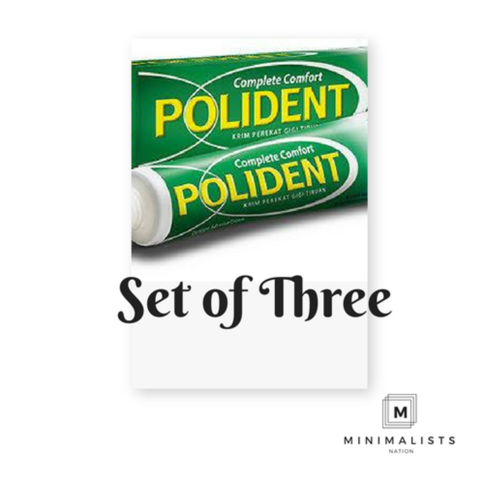 The Cheapest Price Set Of 3 Polident Denture Adhesive Cream 60g
